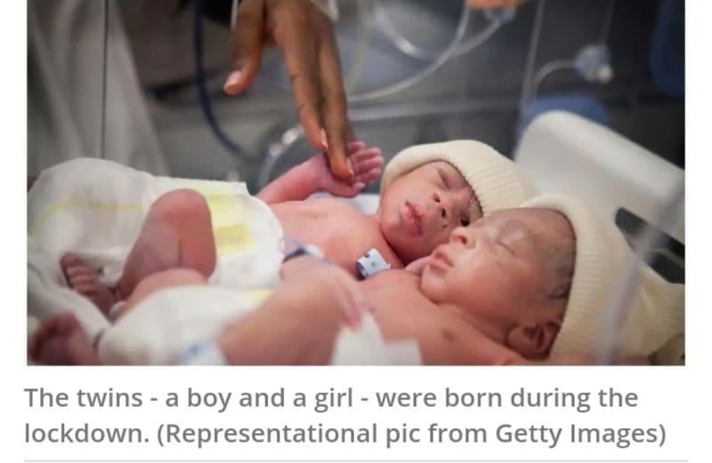 Indian Couple Names Newborn Twins  'Corona' And 'Covid'