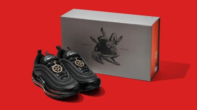"""Nike Sues MSCHF Over """"Satan Shoes"""" With Human Blood"""
