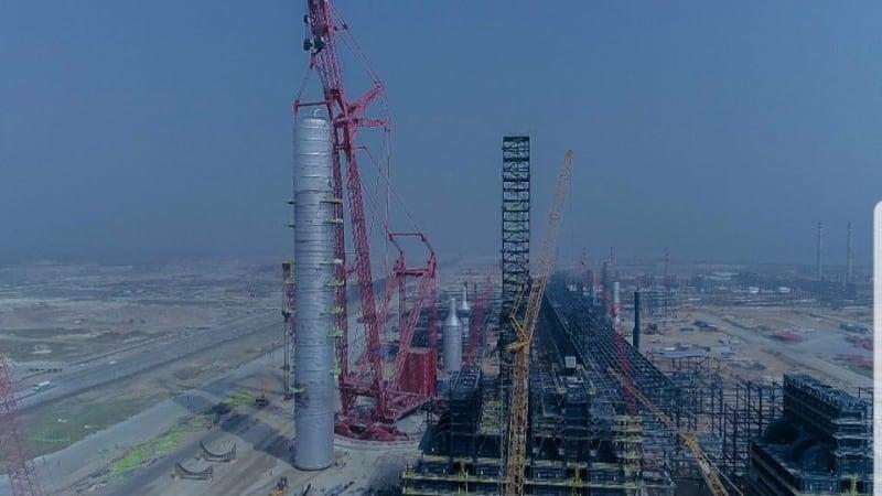 Dangote Refinery Installs Largest Single Crude Distillation Column