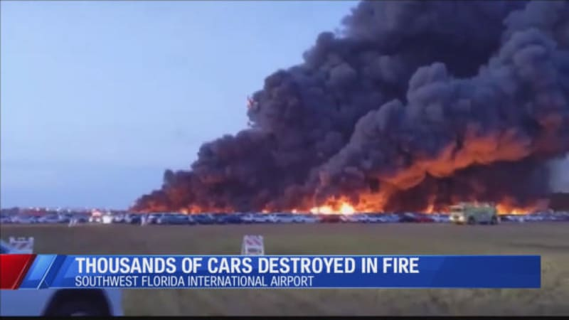 Huge Fire At Florida Airport Destroyed Over 3,500 Rental Cars