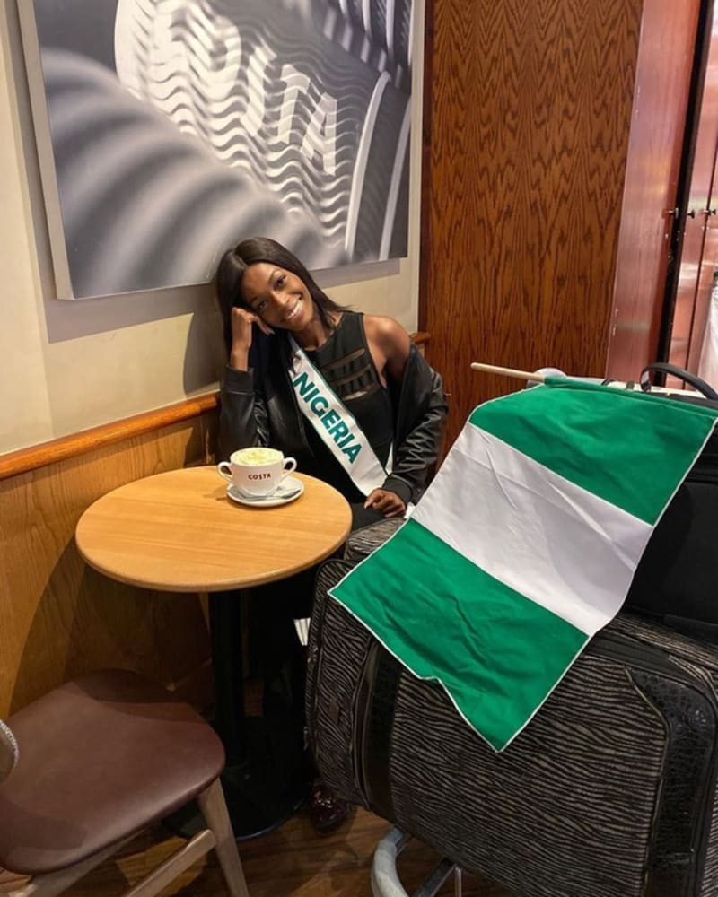The Most Beautiful Girl In Nigeria Lands In London For Miss World 2019
