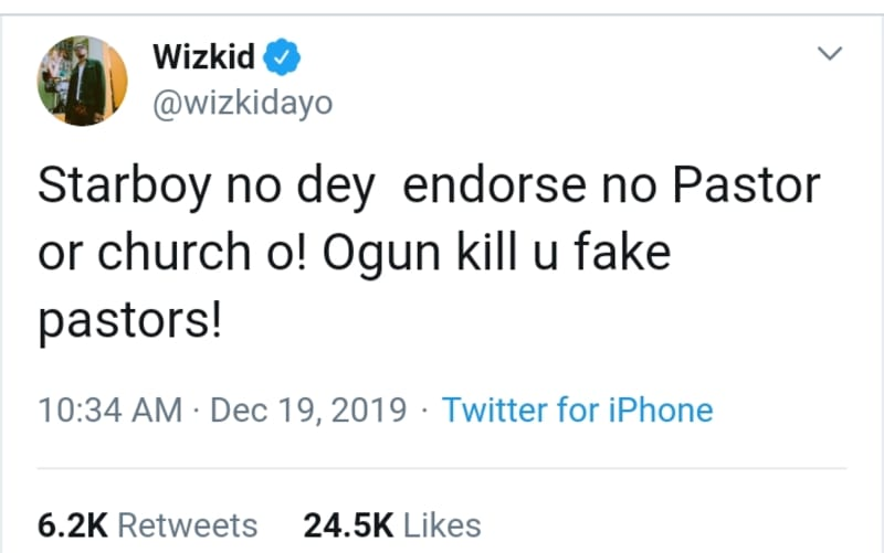 Wizkid And Tiwa Savage Call Out COZA Over Fraudulent Adverts