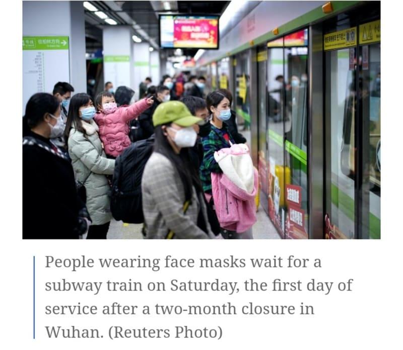 Coronavirus: Wuhan Reopens After 2-Month Lockdown