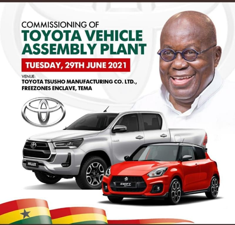 Toyota Snubs Nigeria, Opens Assembly Plant In Ghana