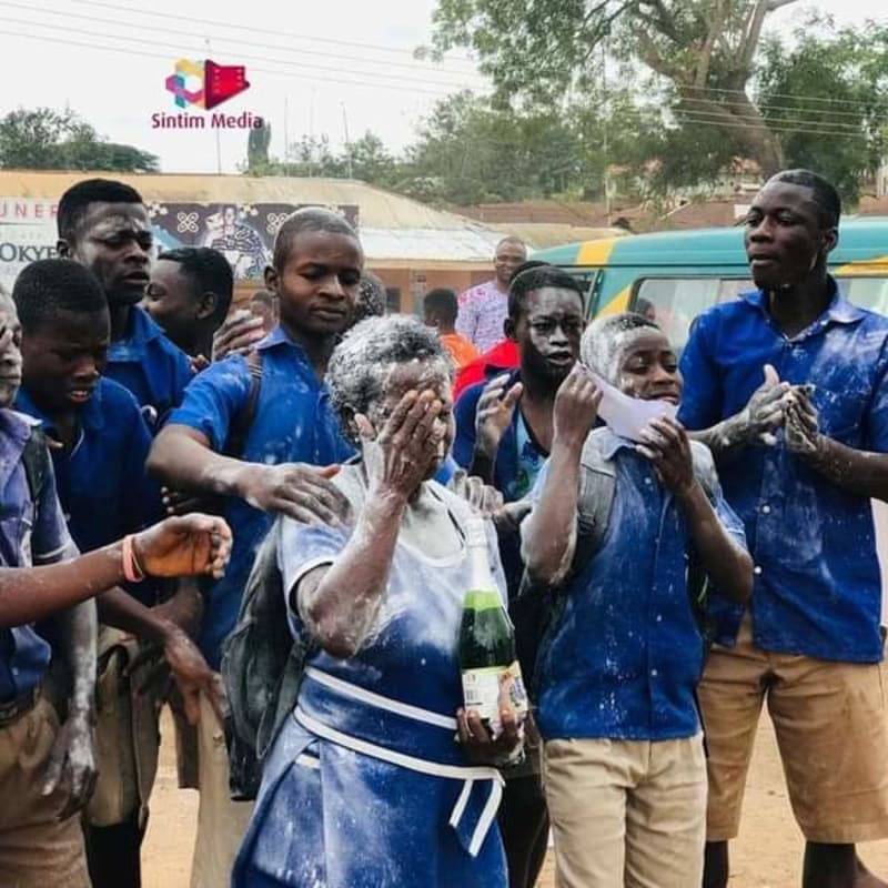 56-Year-Old Ghanaian Celebrates Her Graduation From Junior Secondary School