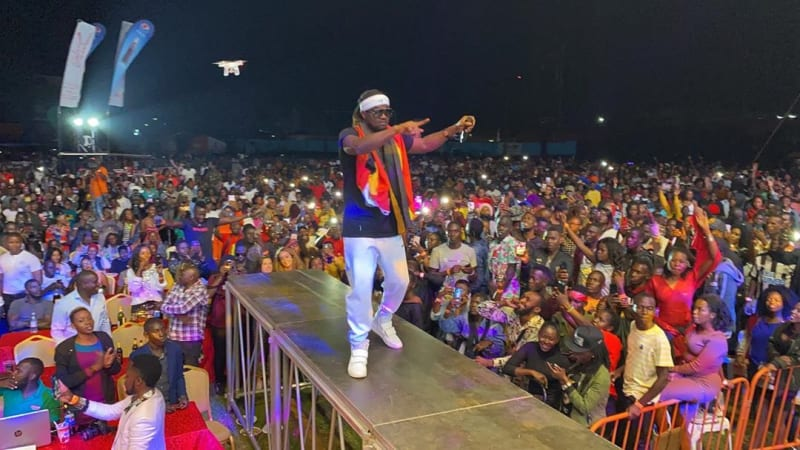 Paul Okoye Performs In Uganda, Wows Crowd