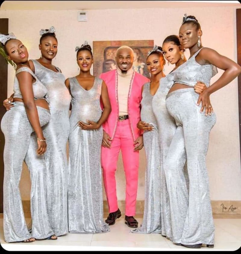 Pretty Mike Storms Williams Uchemba's Wedding With 6 Pregnant Women (Video)