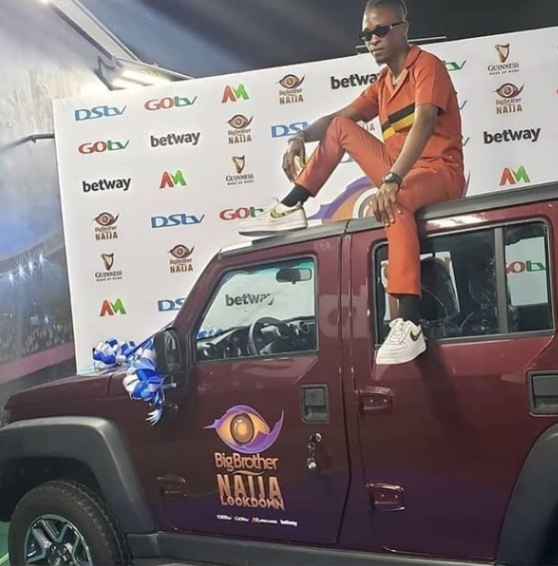 BBNaija Winner, Laycon Poses With His Car