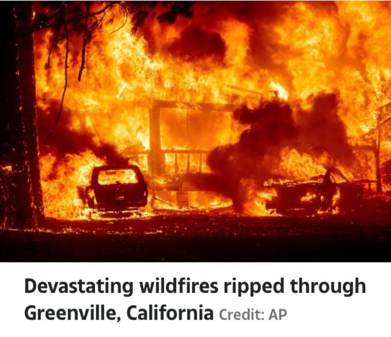 Raging Wildfires Destroy California (Video)