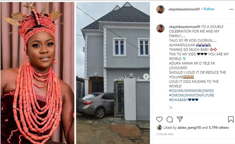 Actress Olayinka Solomon Shows Off Her New House In Lagos