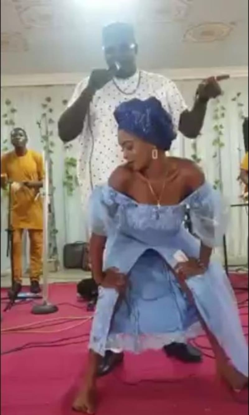Lady Touches Singer's Genital Area While Dancing With Him On Stage (Video)