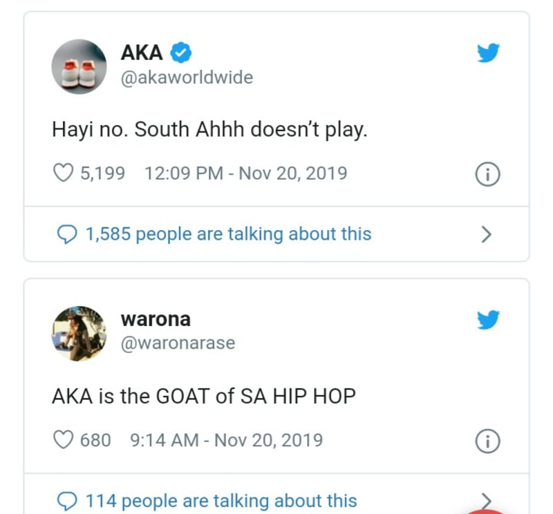 AKA, South Africans Jubilate As Burna Boy's Concert Is Canceled By Organizers