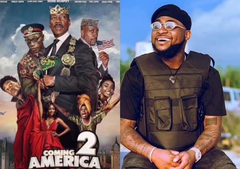 'Coming 2 America': Davido Elated As He Watches His Performance In The Movie