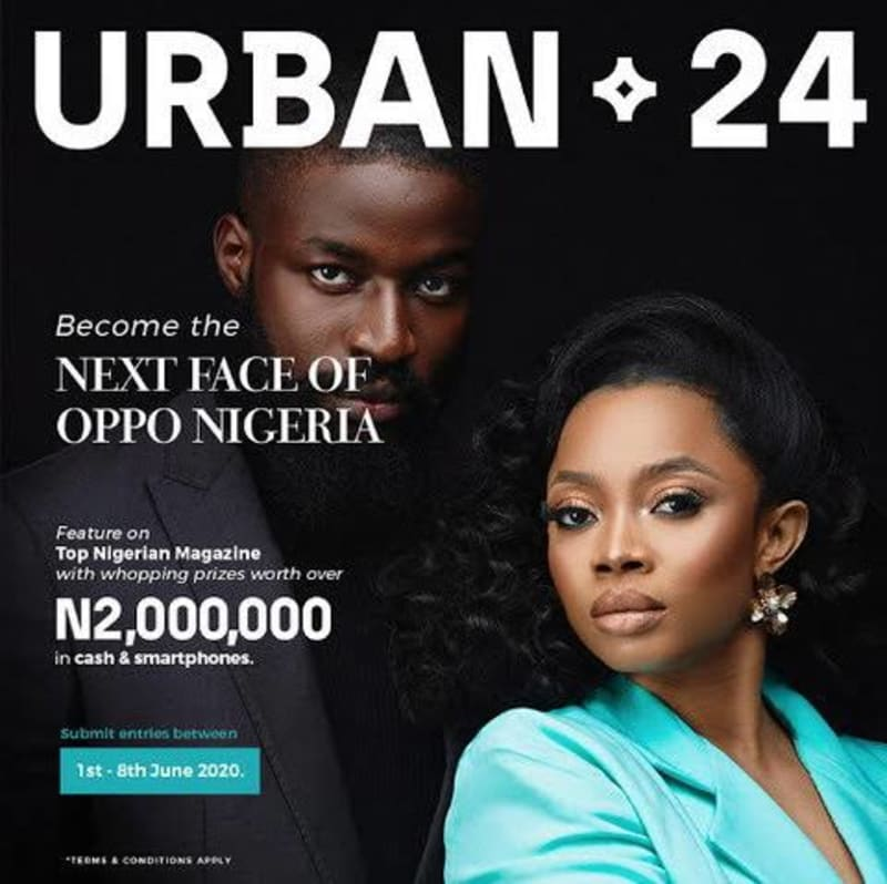 Become The Next Nigerian Top Model In The OPPO Reno3 Urban24 Contest