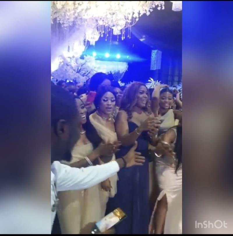 Linda Ikeji Got The Bouquet At Sandra's Wedding