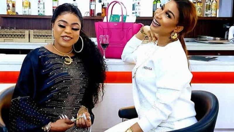 """""""Deep In Your Heart You're A Devil"""" Bobrisky Shades Tonto Dikeh Again"""