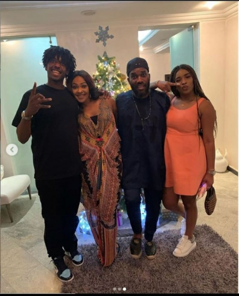 Pictures Of Jay-Jay Okocha With His Wife And Children