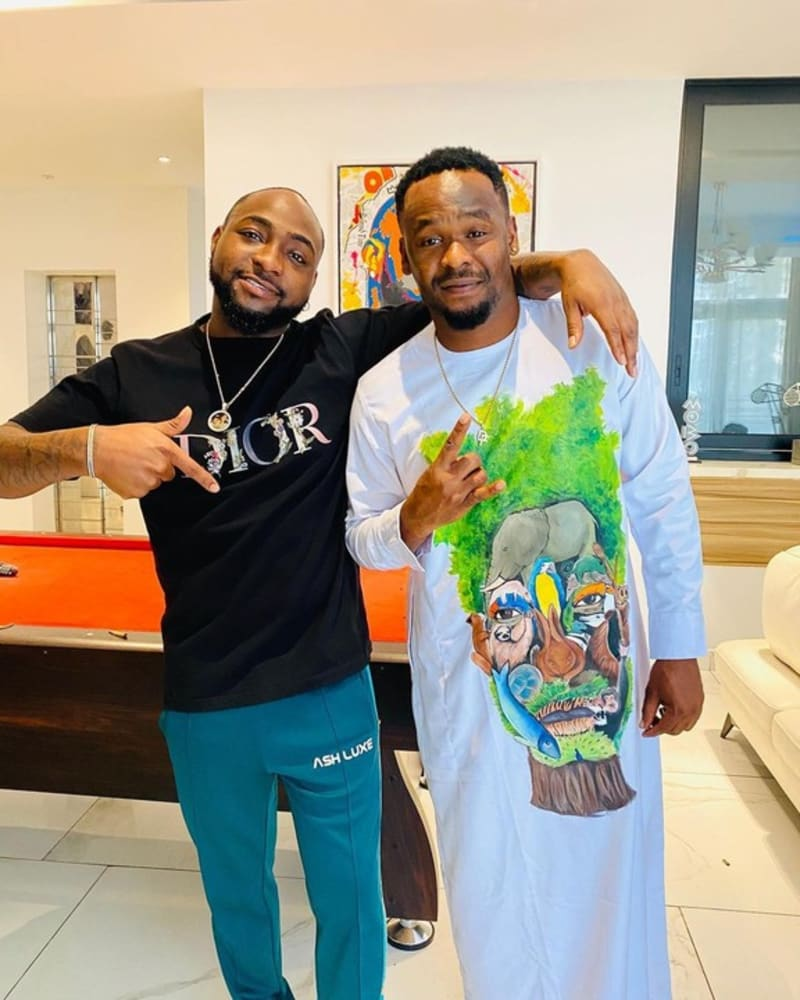 Davido And Zubby Michael Hang Out Together