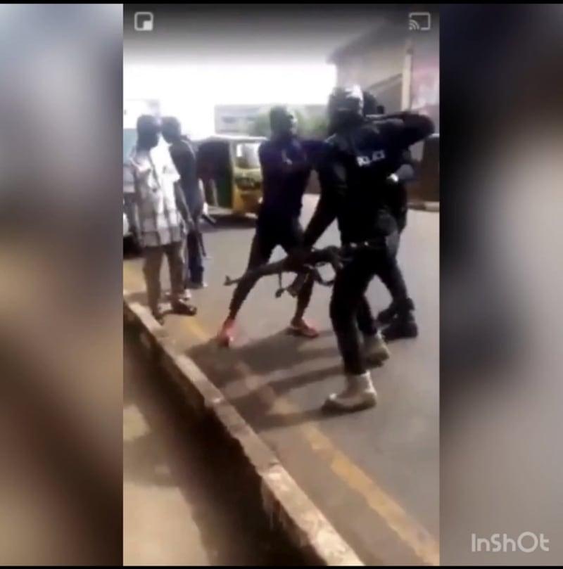 Policemen Assault Man Who Refused To Unlock His Iphone In Enugu (Video)