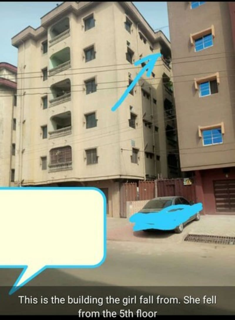 Man Allegedly Throws Girlfriend Off 5th Floor Apartment In Onitsha (Photos)