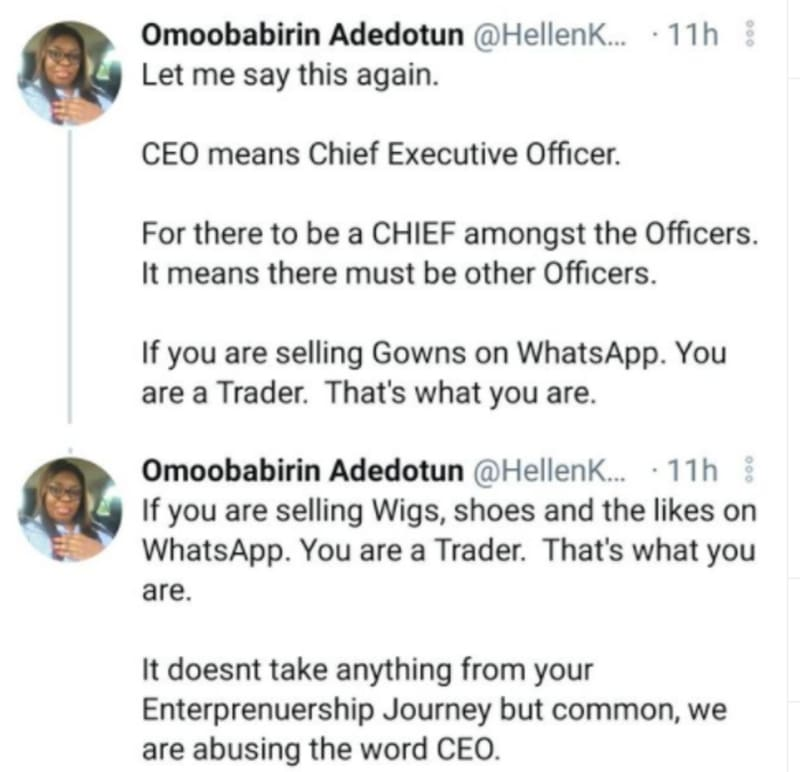 """""""We Are Abusing The Word CEO"""" - Nigerian Woman Explains"""