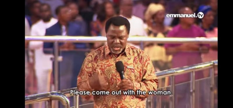 Dubai Yahoo Boy Who Wants To Marry A Prostitute Meets Prophet TB Joshua (Video)