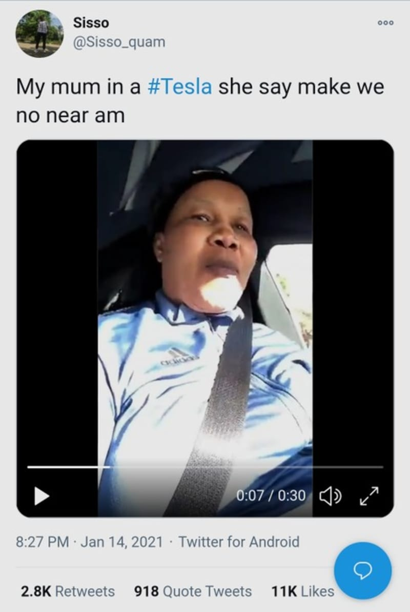 Woman Drives Her N34 Million Tesla. Says 'I'm Cruising In My Machine' (Video)