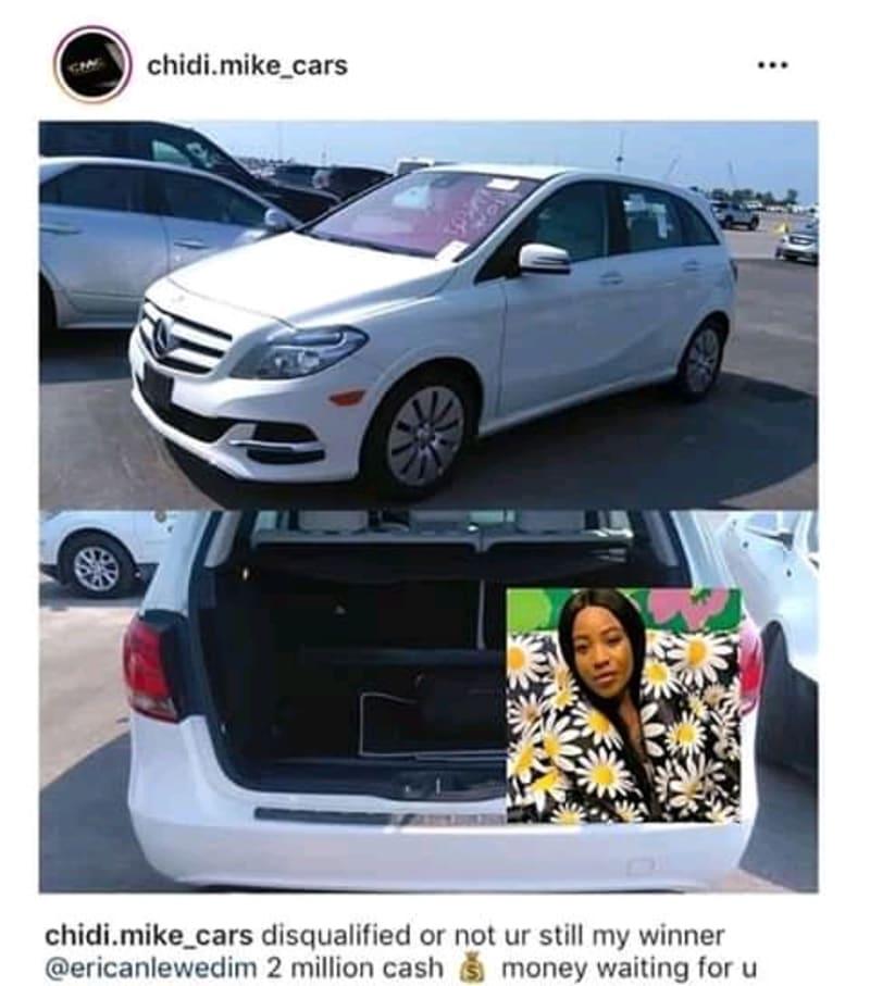 BBNaija: US-Based Nigerian Car Dealer To Give Erica N2M Cash After Disqualification