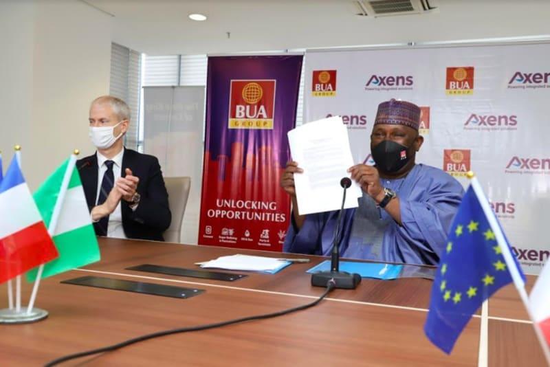 BUA Refinery: Macron Lauds Abdul Samad Rabiu As BUA Signs Deal With Axen