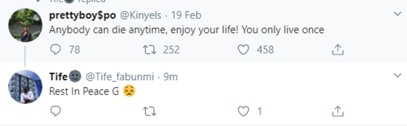 "Young Man Dies Days After Tweeting: ""Anybody Can Die Anytime, Enjoy Your Life!"""