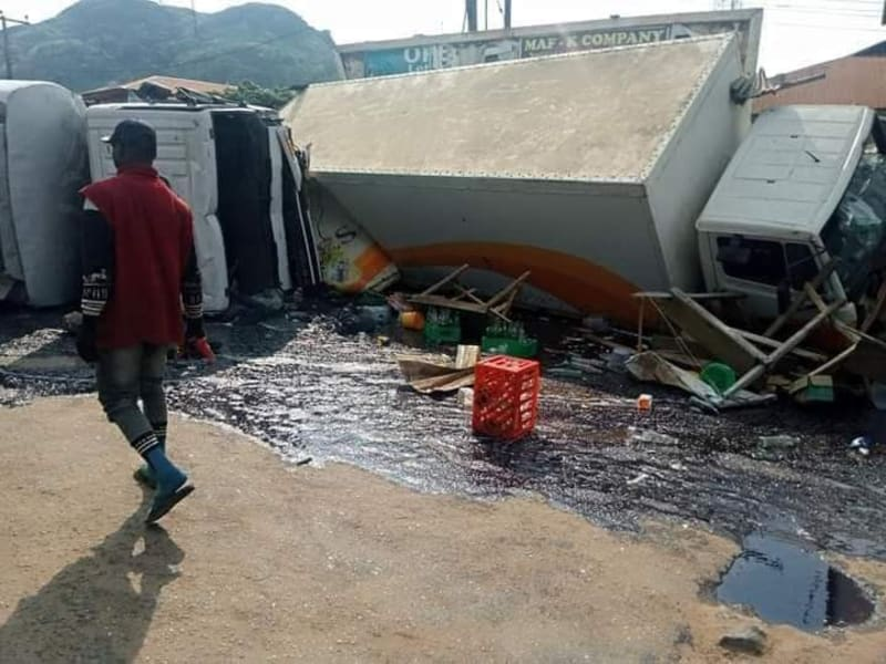 Pregnant Woman And Her 2 Kids Crushed To Death In Tanker Accident