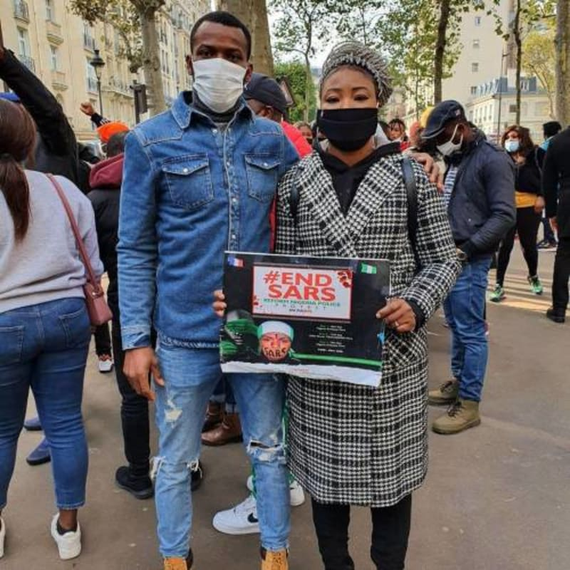 Nigerian Embassy In France Calls Police On EndSARS Protesters