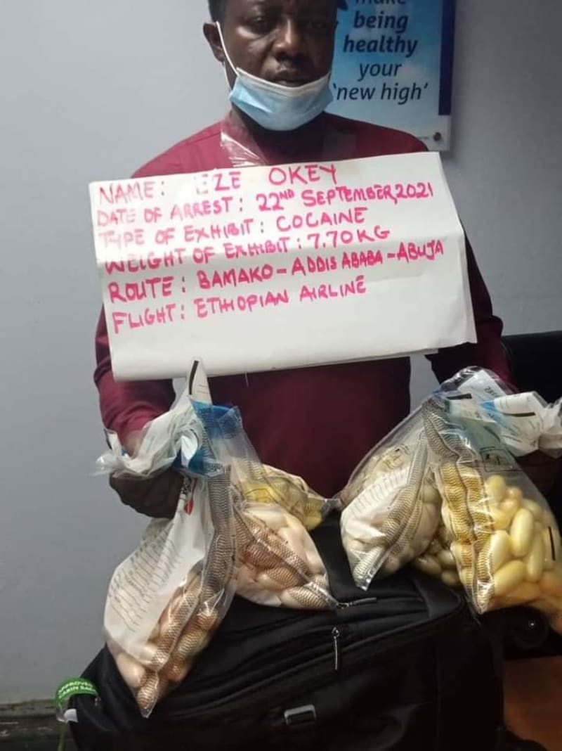 NDLEA Arrests Trafficker With N2.3 Billion Cocaine At Abuja Airport