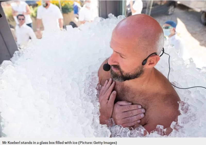 Man Beats His Own World Record After He Sat In Tub Of Ice For Over 2 Hours