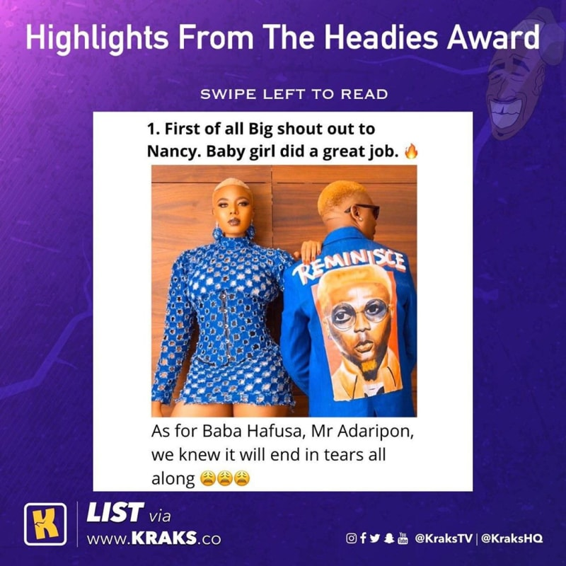Highlights From Headies Award 2019 - Hilarious Meme Collection