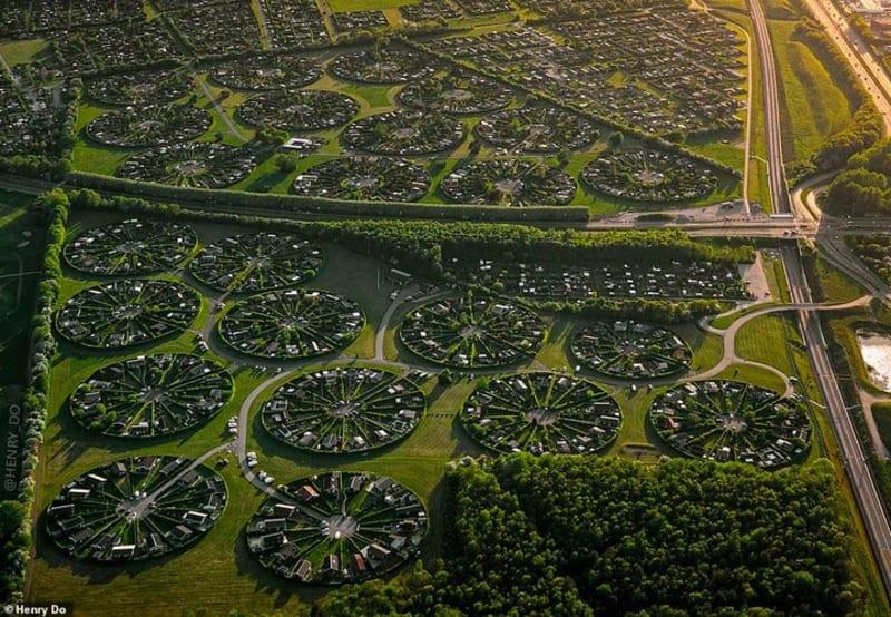 amazing circular 'garden city' that looks like an 'alien civilisation'