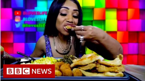check out woman who became a millionaire by eating on youtube