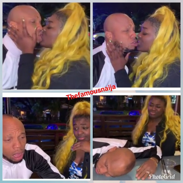 the moment charles okocha 'igwe2pac' kissed a pretty lady with mouth odour