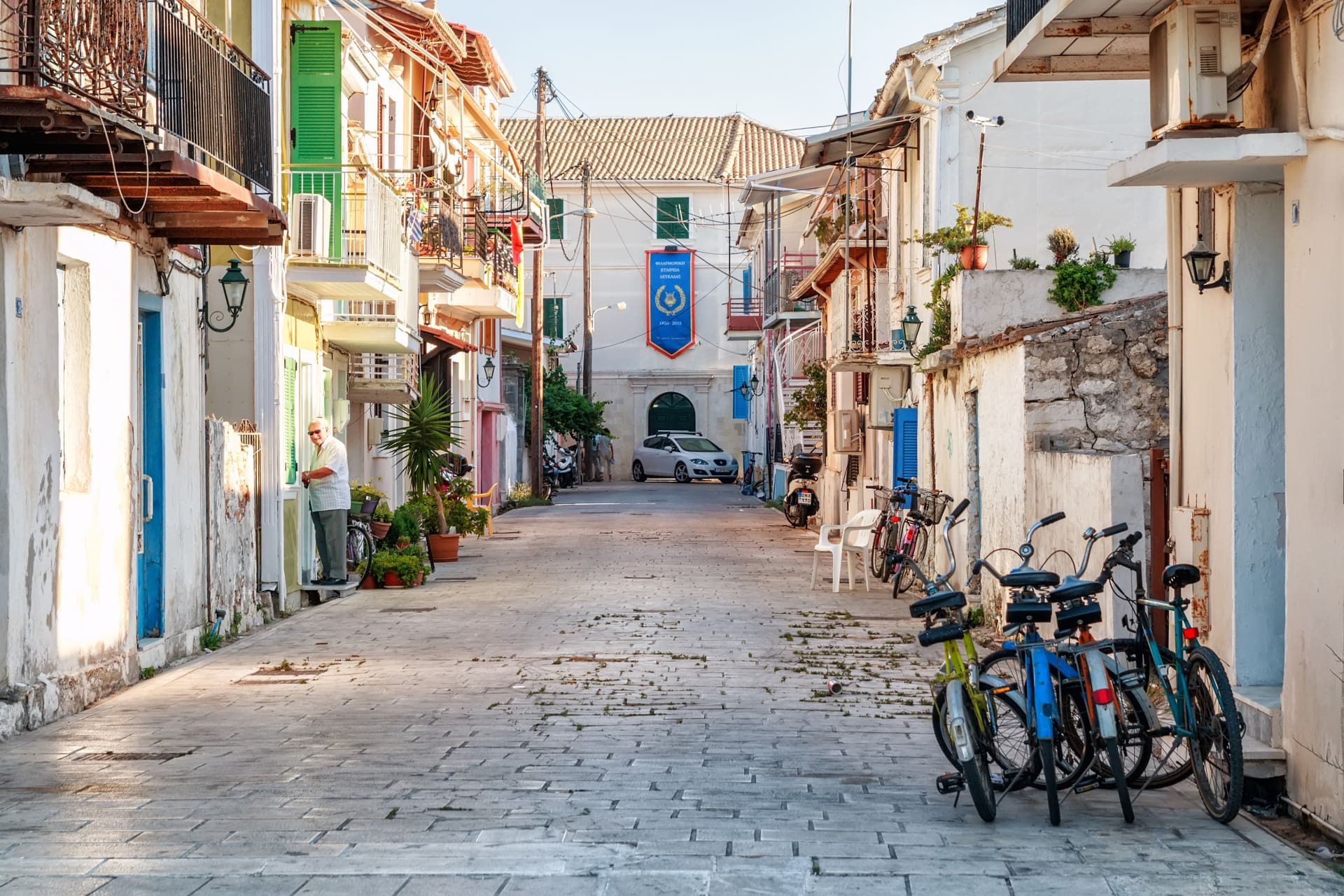 Lefkada town alley