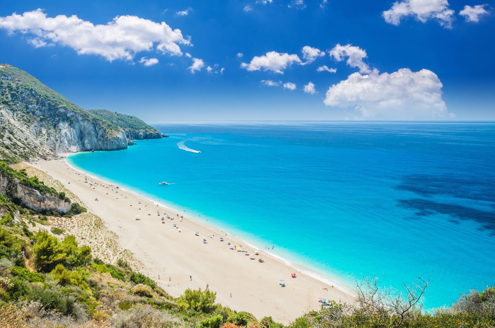 milos beach tirquoise waters, Agios Nikitas