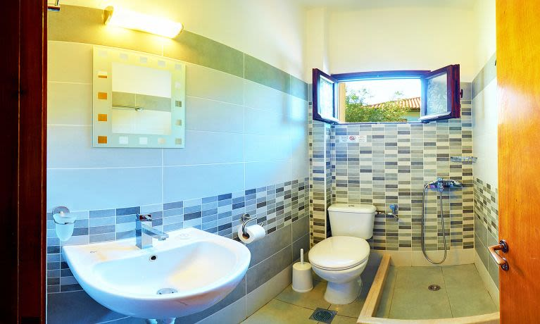 renovated bathroom in all our rooms