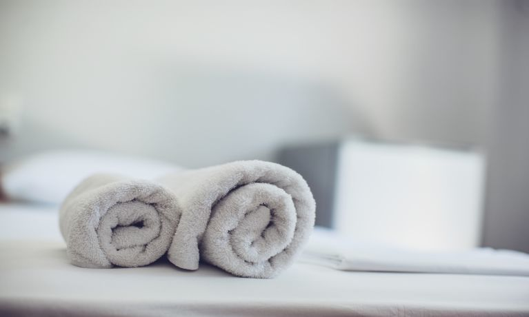 artistic shot of white towels