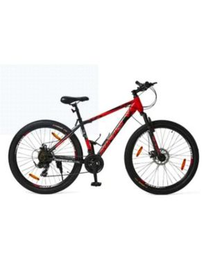 Hardliner 7 x 3 Disc 27.5 Inch Bike, Neon Red/Black with Graphics