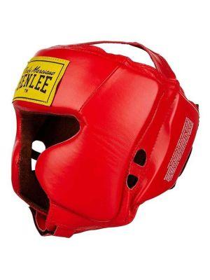 Leather Headguard Tyson Red 196012 L/XL