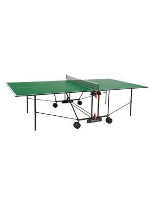 Progress Indoor Foldable TT Table with Wheels - Green Top