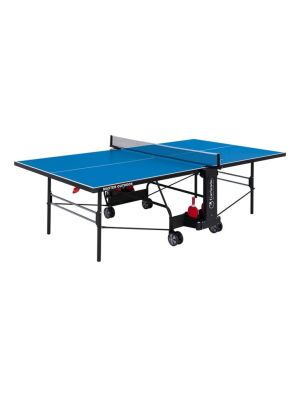 Master Outdoor Foldable TT Table with Wheels - Blue Top