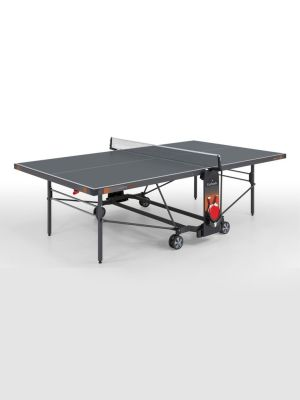 Champion Outdoor Foldable TT Table with Wheels -Blue Top