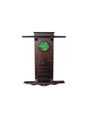 Wall Cue Rack With Clock 10 Cues