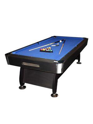 Noir Kids Use Billiard Table 7 Ft Black Finish Wooden Base with Blue Cloth | Ball Return