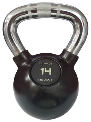 Professional Rubber kettlebell with Chrome Handle